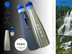 PURE Steel bottle